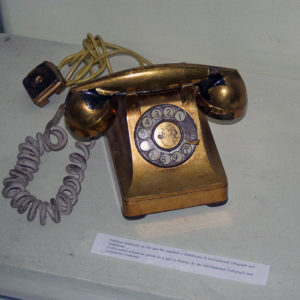 People were starving and Bautista had a gold-plated telephone. It was a gift from the International Telegraph and Telephone Company (ITT), but people were understandably peeved. Photo from WikiMedia Commons.