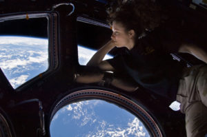 Tracy Caldwell Dyson in the ISS Copula